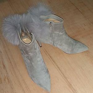 Jimmy Choo  Tesler grey suede boots